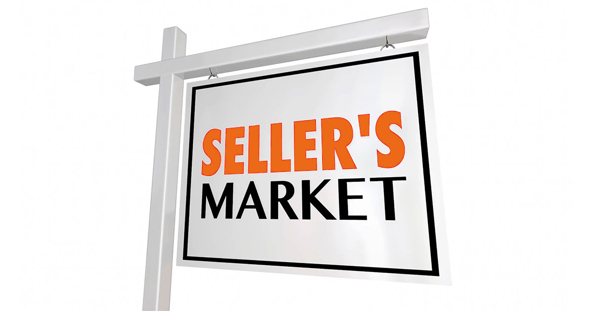 "Sign that says ""Seller's Market"""